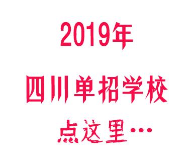 2020年四川单招学校